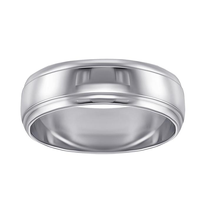 Обручальное кольцо из белого золота 000000324 10109/1б