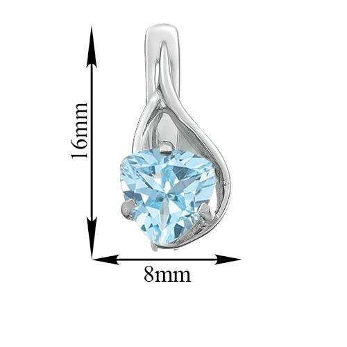 Серебряные серьги Селин со светло-голубыми топазами 000078479