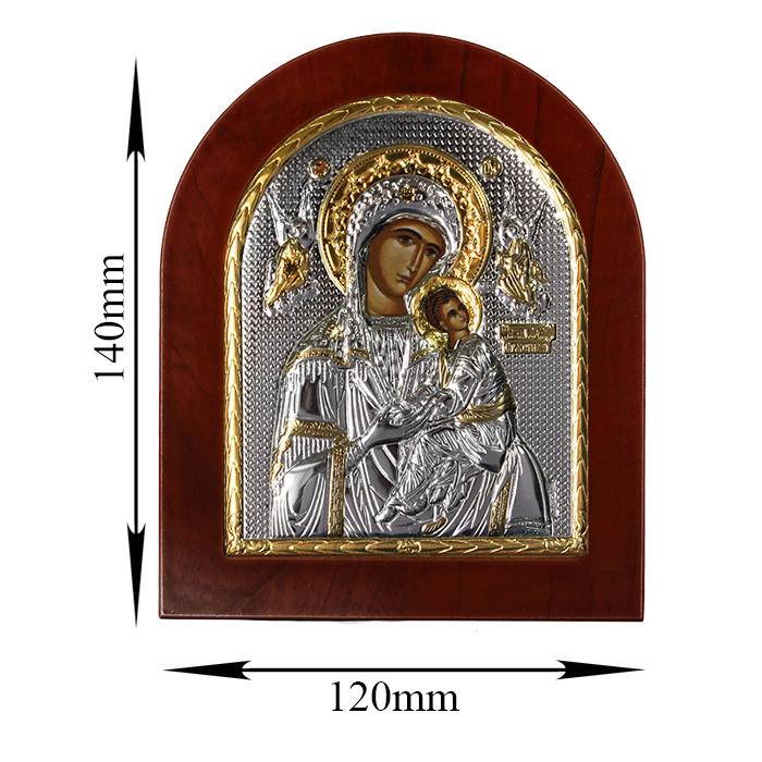 Икона Бороматерь Амолинта на деревянной основе, 12х14см 000061928