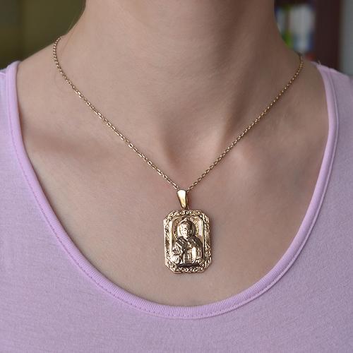 Золотая ладанка Святой Николай Чудотворец 000052555 000052555