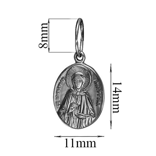 Серебряная ладанка Блаженная Матрона с чернением 000054189 000054189