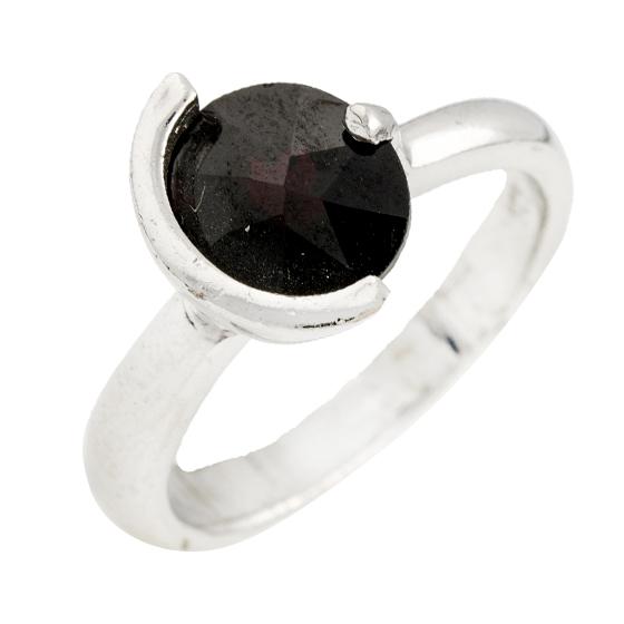 Серебряное кольцо Милена с гранатом 000078159