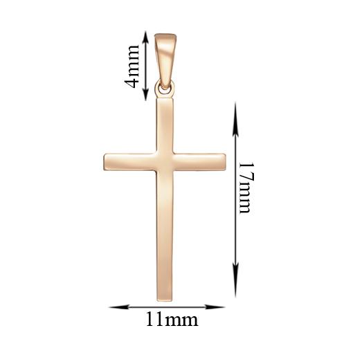 Крестик Строгий стиль в красном золоте 000053587 000053587