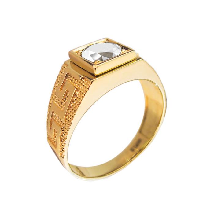 Кольцо в желтом золоте Изобилие с бриллиантом 000079290