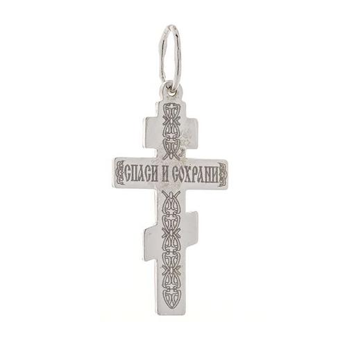 Серебряный крестик с золотой накладкой 000039964 000039964