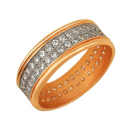 Кольцо из красного золота Веста с цирконием VLT--ТТ179-1