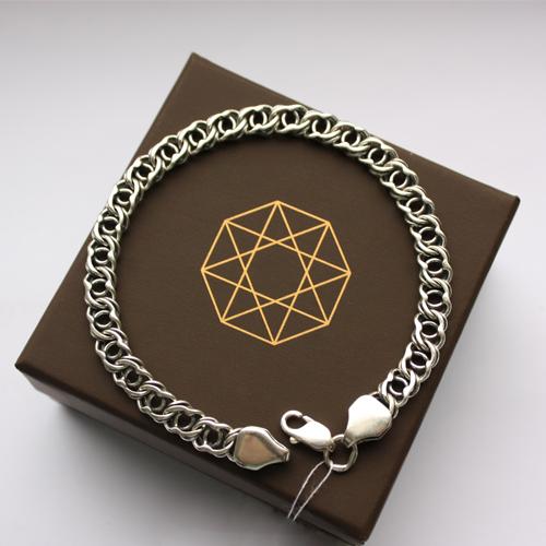 Серебряный браслет Мэрион с чернением, 6мм 000035437