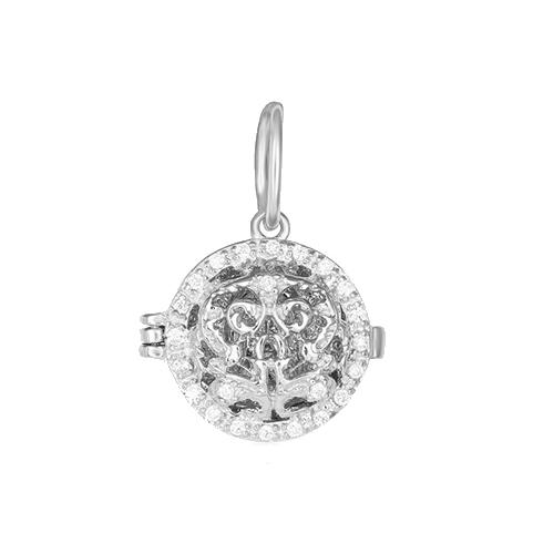 Серебряная ладанка с фианитами Светлый покровитель 000028543 000028543