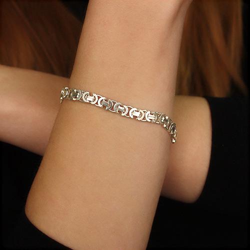Серебряный браслет в фантазийном плетении,6 мм 000002296 10020000
