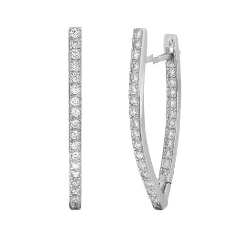 Серебряные серьги с цирконием Мэррайя SLX--С2Ф/182