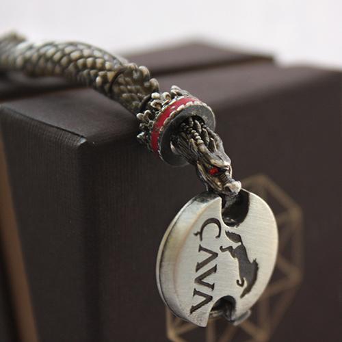Серебряный браслет для шармов Хранитель сокровищ (драконы) 000035859