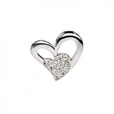 Кулон из белого золота с бриллиантами Love 000030469