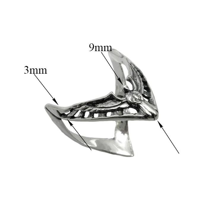 Серебряное кольцо Ангел 01180
