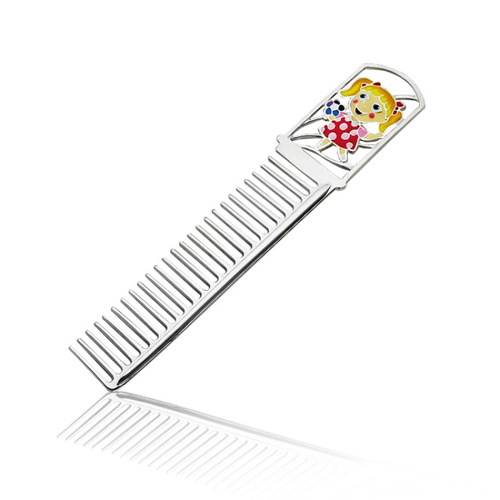 Серебряная расческа с цветной эмалью 000003909 2.13.0123