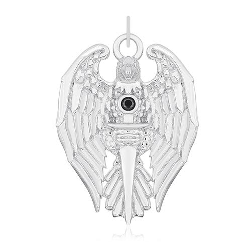 Серебряный подвес с цирконием Рыцарство 000031016
