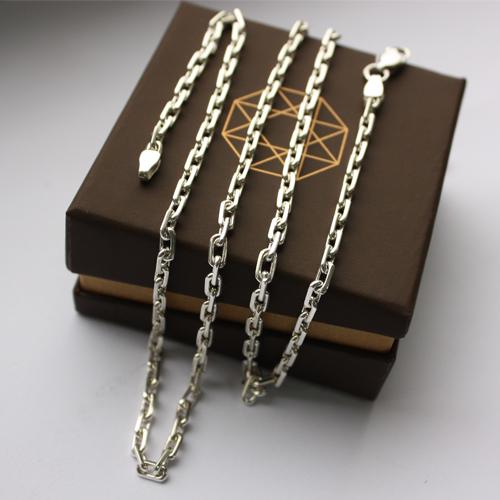 Серебряная якорная цепь Вилфорд, 4мм 000035423