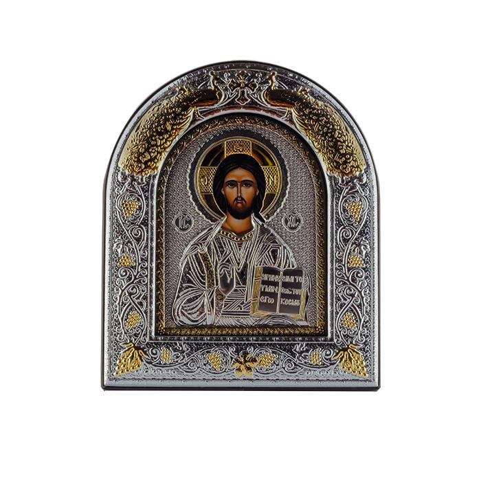 Икона Иисус Спаситель на деревянной основе, 18х22см 000061935
