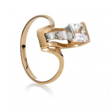 Золотое кольцо с фианитами Камерон 000030613
