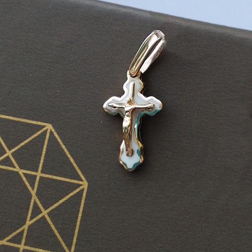 Золотой крестик Ангел Небесный 000006562 000006562