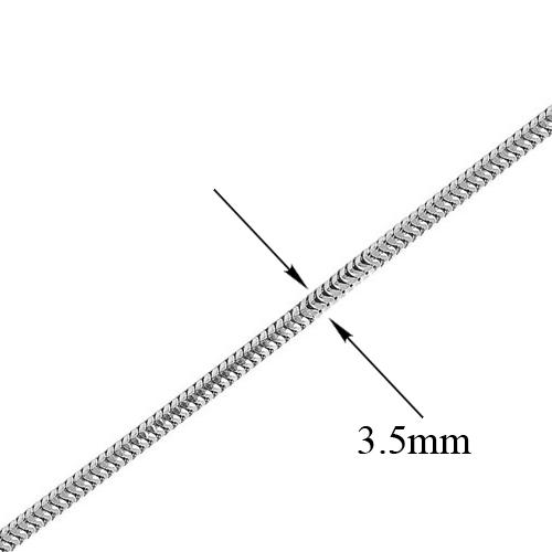 Серебряный браслет Нормандия в плетении плоский снейк, 3,5мм 000070926