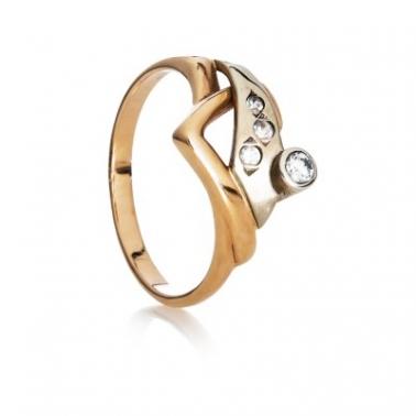 Золотое кольцо с фианитами Глория 000030606