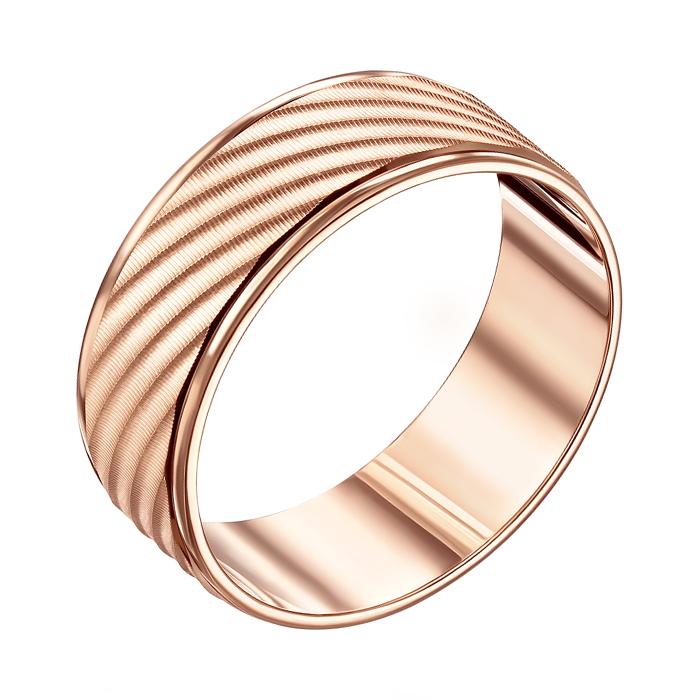 Золотое обручальное кольцо с алмазной гранью Рочестер 10101/10