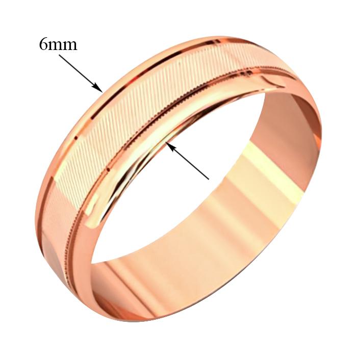 Золотое обручальное кольцо Счастливый союз 000091168