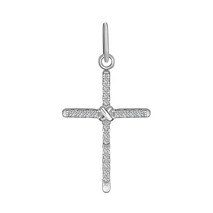 Серебряный крестик с фианитами 000025295 000025295