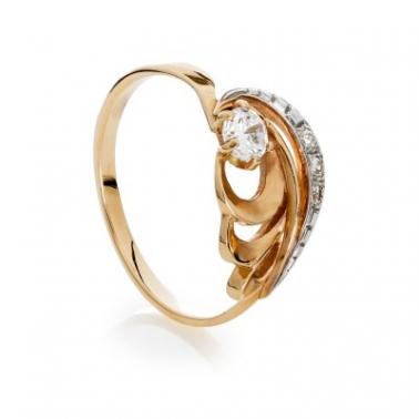 Золотое кольцо с цирконием Гэйнор 000030610
