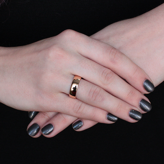 Серебряное обручальное кольцо Союз двух с позолотой 000013355