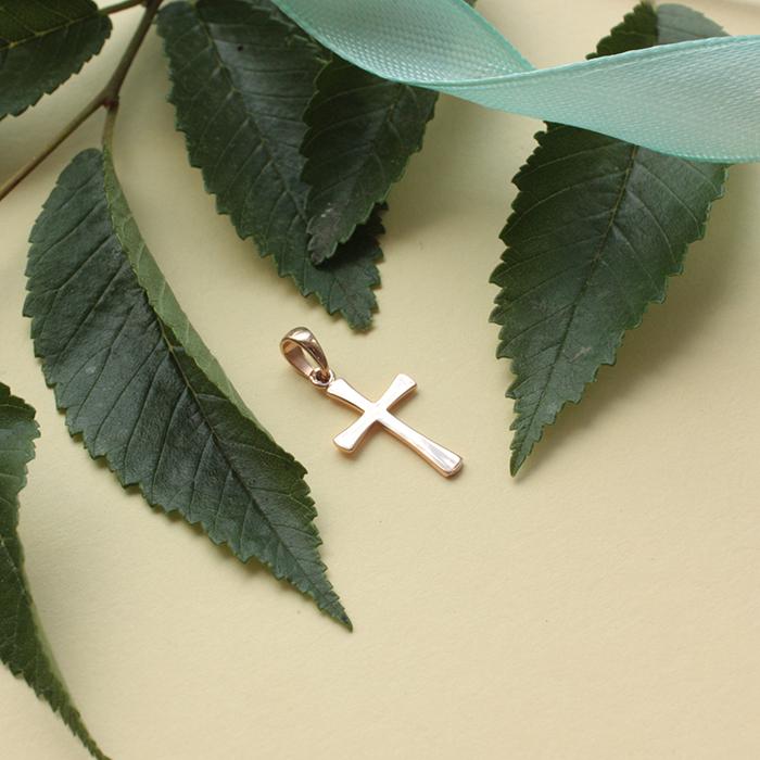 Золотой декоративный крестик 000071102 000071102