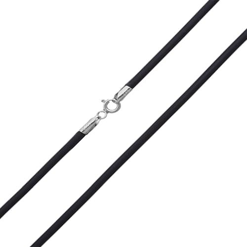 Шнурок из каучука с серебряной застежкой Аристодем, 2 мм 10210002