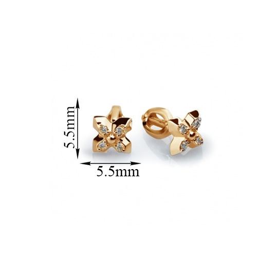 Золотые пуссеты с бриллиантами Дениза 000030526