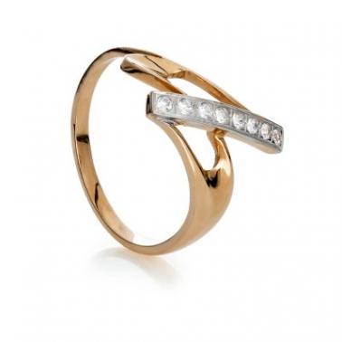 Золотое кольцо с фианитами Ирида 000030608