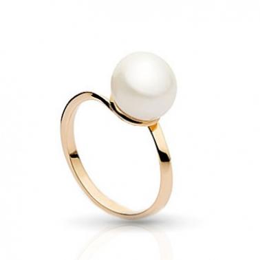Золотое кольцо с жемчугом Ольга 000029991