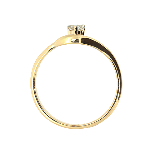 Золотое кольцо в красном цвете с бриллиантом Сонал 000021509