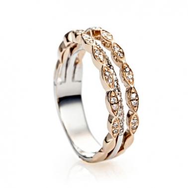 Золотое кольцо с бриллиантами Шанталь 000030520