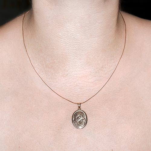 Золотая ладанка Богородица с Младенцем 000015131 TNG--100039