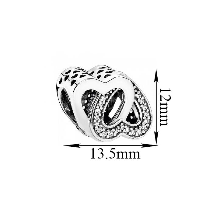 Серебряный фигурный шарм Сладкая парочка с фианитами 000080538