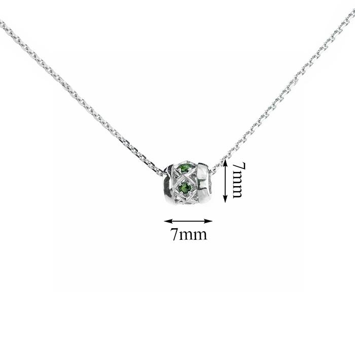 Серебряная подвеска Элиса с изумрудами 000022236