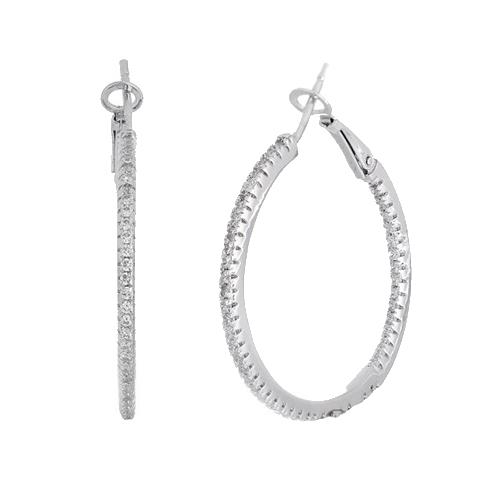 Серебряные серьги с фианитами Асия SLX--С2Ф/168А