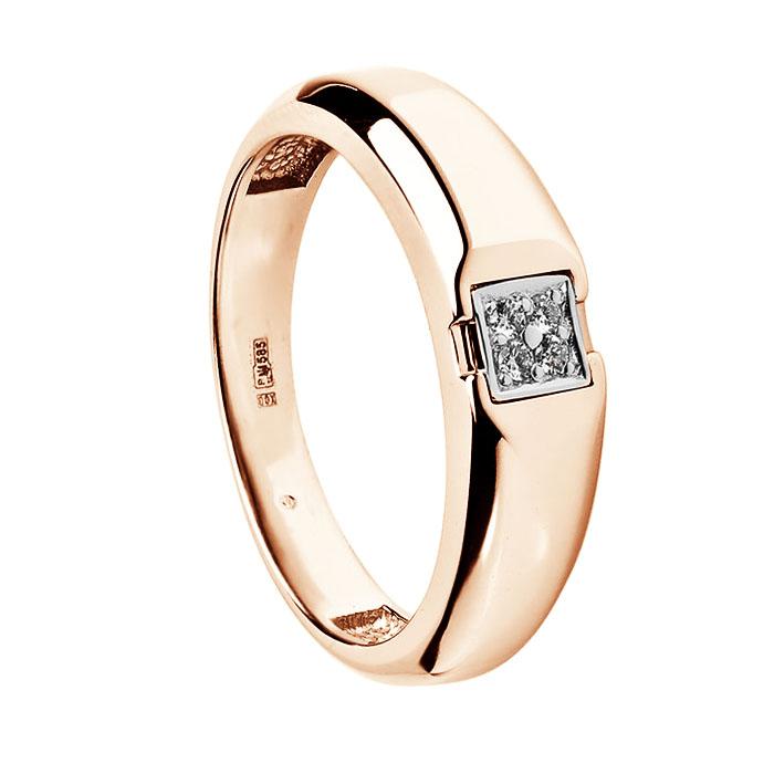 Золотая печатка с бриллиантами Рэнальд 000030472