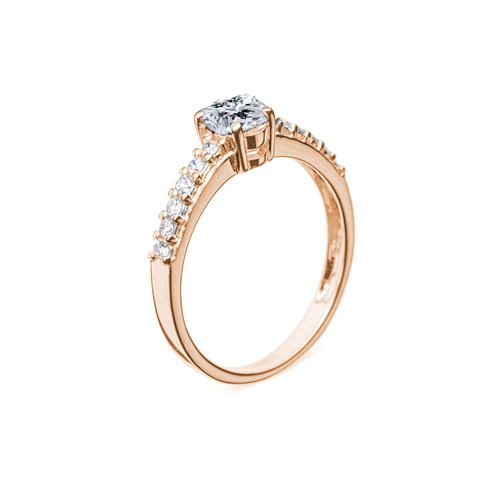 Кольцо в красном золоте Исабель с бриллиантами 000079238