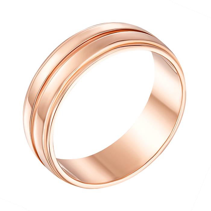 Обручальное кольцо из красного золота Юджина 000000306