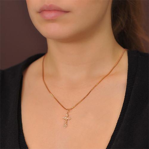Золотой нательный крестик Доверие EDM--КР026