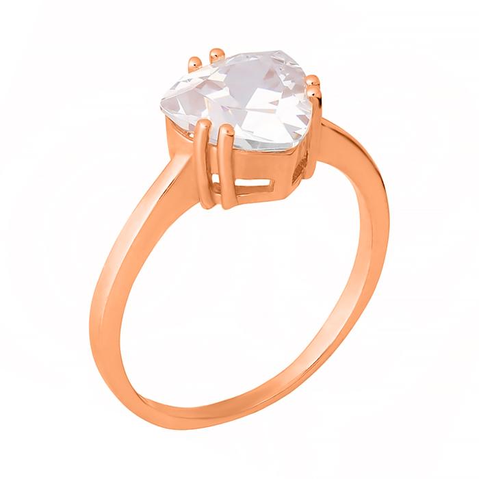 Позолоченное серебряное кольцо Альфинур с цирконием 000028407