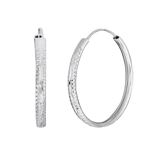 Серьги-кольца из серебра Азенет SLX--С2/428