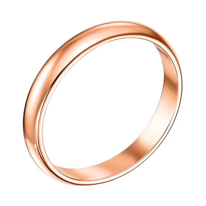 Обручальное кольцо из красного золота 000008406, 2.5мм 000008406