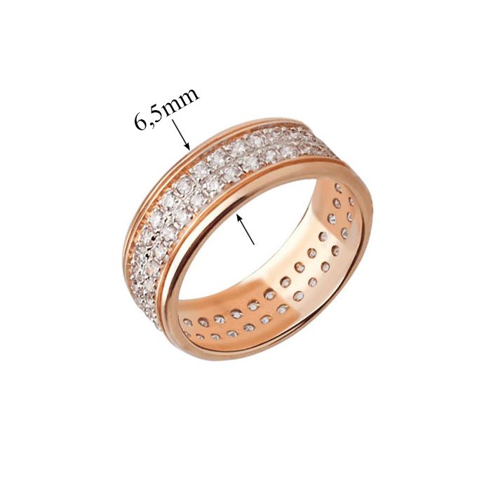 Кольцо из красного золота Фидес с фианитами VLT--ТТ195-1