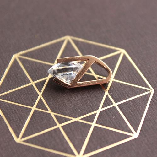Кулон из красного золота с кристаллом Swarovski 000001251 EDM--П4121SW